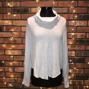 We The Free Waffled Fabric Turtleneck Sweater